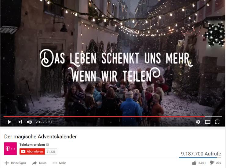 Telekom Weihnachtskalender.Fröhliche Weihnacht Swerbung überall Hochschule Der Medien Hdm