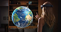 Projektion der Microsoft HoloLens (Bild: microsoft.com)