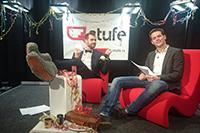 Die beiden Moderatoren der Sendung (Fotos: stufe.tv)