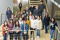 Bei dem Besuch der Schüler wurden von den Studenten erste Arbeitsergebnisse vorgeführt (Fotos: Projektteam)