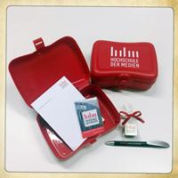 Zum Launch des neuen Logos wurde eine Goodie-Box erstellt - Zur Detailansicht