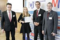Larissa Urbiks bei der Preisverleihung (Foto: Thomas Imo / WJD)