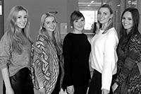 Sarah Gebhard, Larissa Urbiks, Claudia Bednorz, Julia Funk und Julia Habla (von links)