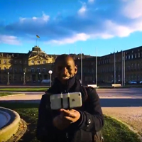 Shatlas Olondo auf dem Stuttgarter Schloßplatz