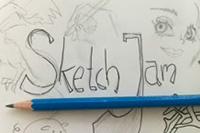 Die Zeicheninitiative SketchJam stellt ihre Werke aus dem Sommersemester 2017 aus