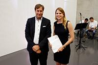 Prof. Volker Jansen ehrte Susanne Pagel