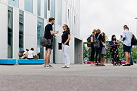 Die Lehrveranstaltungen finden auf einem Campus statt (Fotos: HdM Stuttgart / Verena Ecker)