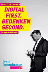 Die FDP stellt ihren Spitzenkandidaten Christian Lindner in den Mittelpunkt. Foto: FDP