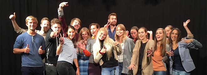 Der aktuelle Jahrgang der Nachwuchsmoderatoren freut sich auf das TV-Debüt (Foto: HdM Stuttgart / imo)