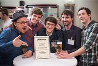 Die Gewinner: Anton Ungefug, Sebastian Wakan, Martin Zell, Massimo Ehrhard und Robin Hirt (Foto: Marquis Fields)
