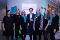 Prof. Dr. Boris Kühnle organisierte mit einem Projektteam des Studiengangs Medienwirtschaft die Veranstaltung, Foto: Tobias Bosch