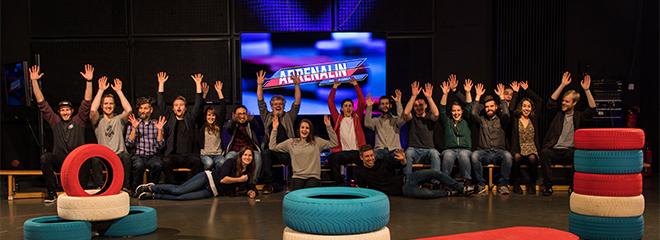 Das Team hinter der Live-Sendung (Foto: Julia Ising)