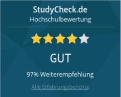 """Die HdM auf dem Bewertungsportal """"StudyCHECK"""""""