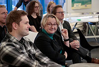 Wissenschaftsministerin Theresia Bauer informierte sich über die Start-up-Aktivitäten an der HdM
