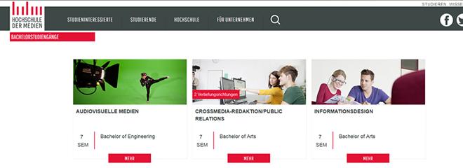 Die HdM-Webseite erstrahlt im neuen Glanz, Foto: Alisa Kringler