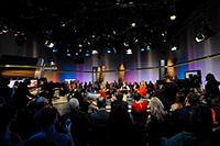 Das Finale im Qualifikationsprogramm Moderation ist eine 90-minütige Fernsehsendung beim SWR in Stuttgart