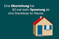 Bereits bei einem Abstand von weniger als 1,5 Metern kann es zum tödlichen Spannungsüberschlag kommen (Copyright Deutsche Bahn AG)