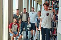 Thomas Görsch (Schauspieler), Konstantin Fitz, Nils Hala, Kim Groche, Pierre von Dufais und Giovanni Basile (von links)