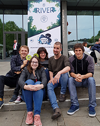 Das Team von links nach rechts: Hauke Thießen, Eva Kaldenbach, Eva Mattausch, Felix Gauer, Lorenz Traub. Foto: Sabiha Ghellal