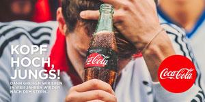 Coca-Cola reagierte aufmunternd auf das WM-Aus der DFB-Elf, Foto: (c) Coca-Cola Deutschland via www.twitter.com