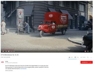 OTTO liefert einen coolen und witzigen Spot zur Fußball-WM, Foto: (c) OTTO via. YouTube.com