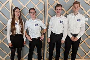 Leonie Schaudt, Jonas Haischt, Mark Kvetny und Leonard Wohlfarth (von links, Foto: Projektteam)