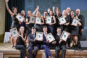 Im europäischen Wettbewerb schaffte es Martin Wunner (unten rechts) ins Finale (Foto: Pro Carton)