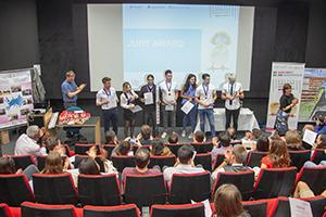 """Beim Ideenwettbewerbs """"Entrepreneurial Brains Made on Campus"""" an der HdM entwickelten Studierende lösungsorientierte Konzepte in internationalen Teams"""