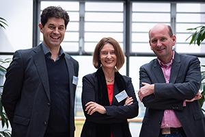 Die Professoren Stefan Grandinetti, Katja Schmid und Dr. Burkard Michel (von links, Foto: Johanna Herrmann)