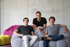 monikit Team: Florian Lutz, Kevin Klett, Julian Hofmeister (von links, Foto: monikit)