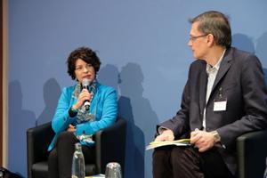 Prof. Dr Petra Grimm mit Wissenschaftsjournalist Volkart Wildermuth, Foto: Leopoldina