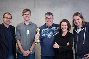 Prof. Boris Michalski, Prof. Jan Adamczyk, Gerd Nefzer, Prof. Katja Schmid und Peter Ruhrmann (von links)