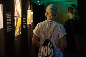 In ihrer interaktiven Rauminstallation haben die Studierenden den Besuchern die besondere Art der Wahrnehmung vermittelt.