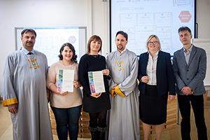 Dr. Ferenc Kiss, Lisa Lang, Magdalena Weinle, Dr Richárd Izmindi, Dr. Ágnes Vámos und Zsolt Szilágyi (von links, Foto: METU).