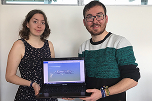 Madeline Reinaldo Mendoza und Willi Schorrig sind mit ihrem Konzept für das Spiel Sonority für den Deutschen Computerspielpreis nominiert.