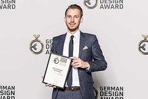 Simon Eberhardt beim Design Award 2019, Foto: Lutz Sternstein | Rat für Formgebung