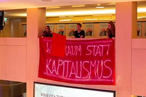 Die Studierenden stellten eine Demo nach