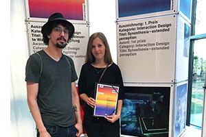 Nils Keller und Franziska Schicht vom Projektteam bei der Preisverleihung am 4. Juli 2019, Foto: Anna-Lena Ludwig
