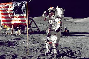 Am 21. Juli 1969 betrat Neil Armstrong als erster Mensch den Mond, Foto: (c) NASA via unsplash.com