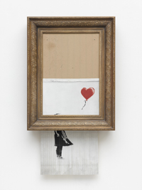 "Banksy ""Love is in the Bin"", 2018, Privatsammlung Foto: Staatsgalerie Stuttgart, © Banksy"