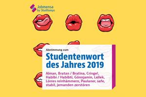 Jobmensa rief zur Wahl der Studentenworts des Jahres 2019 auf. Screenshot via Instagram Jobmensa