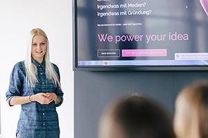 Anlaufstelle für Gründungsinteressierte ist das Start-up Center der HdM
