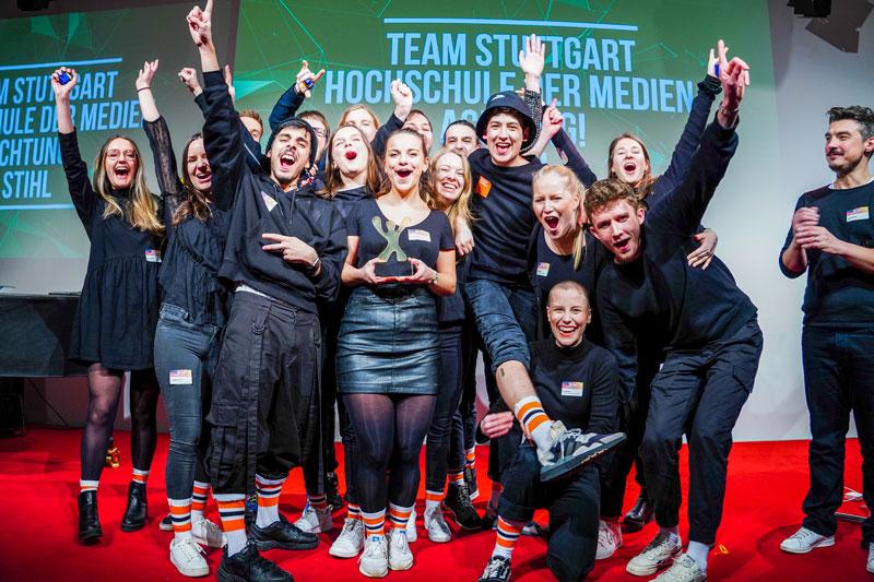 So sehen Sieger aus: Das HdM-Team konnte beim 35. GWA Junior Agency Award alle drei Preise einheimsen, Fotos: twenty4pictures.de | André Wirsig