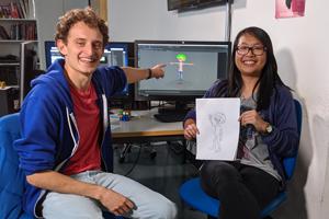 Im November 2019 ließ sich Checker Julian von der HdM-Studentin Wathinee Donsuypae zeigen, wie animierte Figuren entstehen.