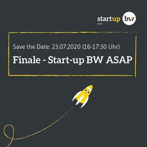 Das Finale des Start-up BW ASAP findet am 23. Juli 2020 virtuell statt, Foto: Start-up BW ASAP