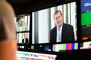 Eine Live-TV-Sendung begleitete die virtuelle MediaNight