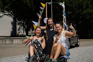Fahrräder waren in unterschiedlichen Varianten dabei (Fotos: Madlen Medvedovskyy, Marcel Kazenmaier)