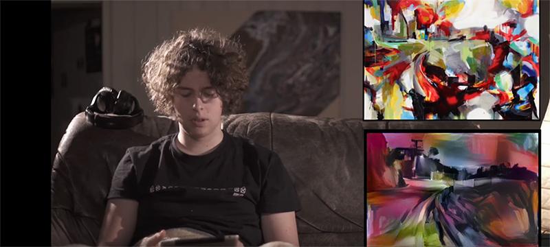 Junge Menschen sollten erraten, ob Kunstwerke von Menschen oder einer KI geschaffen wurden (Foto: Screenshot aus dem Video)