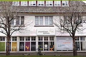 Mock-up eines Chamäleon Spaces in der Stadt Herrenberg (Foto: Projektteam)