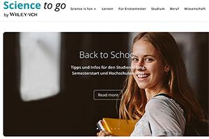 """Studierende aus Stuttgart und Toronto haben gemeinsam an einem Konzept für das Online-Portal """"Science to go"""" gearbeitet (Foto: Screenshot)"""